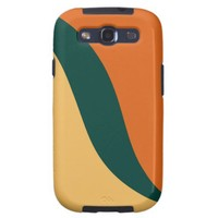 Beeswax, Teal, Tangerine Tango Graphic Art Pattern Samsung Galaxy SIII Cases from Zazzle.com