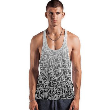 'Ombre black and white swirls doodles' Vests by Savousepate on miPic