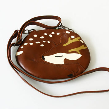Small Deer Leather Purse for Kids