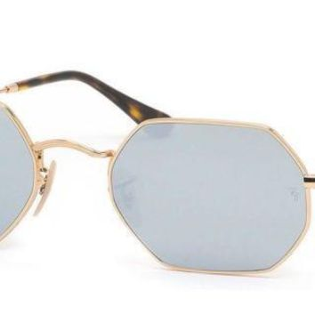 Authentic Ray Ban Sunglasses RB3556N 001/30 Gold Frames Silver Lens 53MM