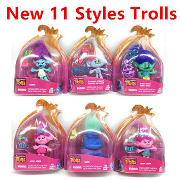 2016 New Trolls Dreamworks Movie Trolls Action Figure Toys Poppy Branch Kawaii Cartoon Trolls Dolls Toys for Children Kids Gifts