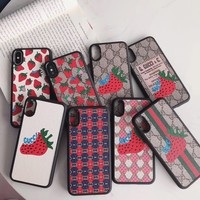 GUCCI Strawberry iPhone case