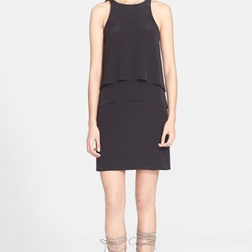 Women's Tibi Layered Silk Halter Dress