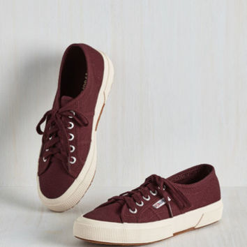 Minimal Active Kindness Sneaker in Burgundy