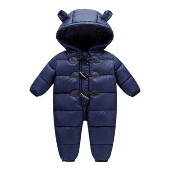 2017 baby winter clothes down thick warm Hooded baby jumpsuits newborn baby boys girls romper children snowsuit down clothing