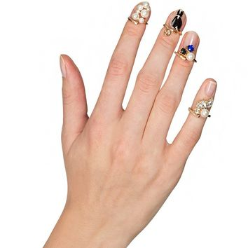 Bling Ring Knuckle Ring Set