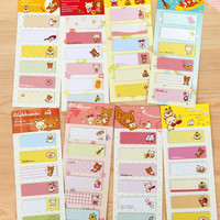 Sticky note sticky memo notepad for DIY scrapbook writing/ office deco/ wall deco/ home fun - cartoon illustration