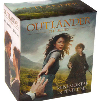Lot of 2 Outlander the Series Mini Mortar & Pestle Set Book Quotes Gift Set
