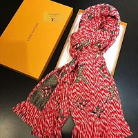 Louis Vuitton LV Fashion Woman Sunscreen Cape Scarf Scarves Accessories Red
