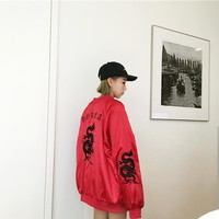 Korean vintage Harajuku wind retro embroidered coat female students