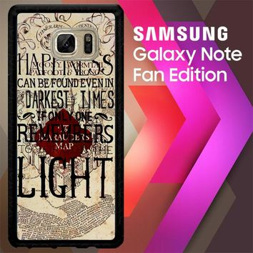 Harry Potter Marauders Map Happines L1431 Samsung Galaxy Note FE Fan Edition Case