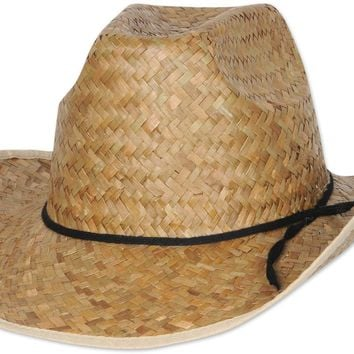hi-crown western hat with shoelace band Case of 60