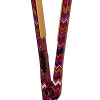 """CHI Home 1"""" Mulberry Zig Zag Flat Iron with thermal cross-body bag"""