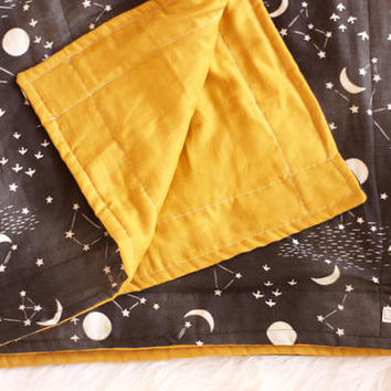 Baby Blanket - Space Blanket - Gauze Blanket - Baby Shower Gift - Gender Neutral Baby Blanket