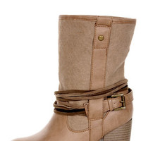 Pink & Pepper Marrakech 3 Natural Multi Canvas Mid-Calf Boots