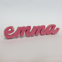Emma Name Sign Large Birthday Gift Idea Bedroom Baby Girl Wood L Sign