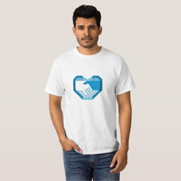 Handshake Forming Heart Shape Retro T-Shirt
