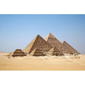 Pyramids poster Metal Sign Wall Art 8in x 12in