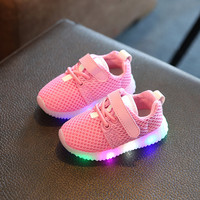 Eur21-25 //2016 Children&toddlers&baby Led Kids Light Up Sports Shoes Luminous Glowing Breathable Sneakers for Boys&Girls