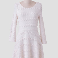Winter Enchantment Textured Dress