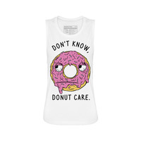 Don't Know Donut Care Muscle Tee