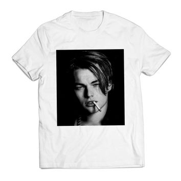 Leonardo Dicaprio Young Smoke Actress Clothing T shirt Men