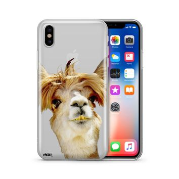 Bieber Llama - Clear TPU Case Cover Phone
