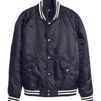 H&M - Baseball Jacket - Dark blue - Men