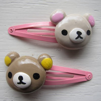 Rilakkuma Polymer Clay Hair Clip Set