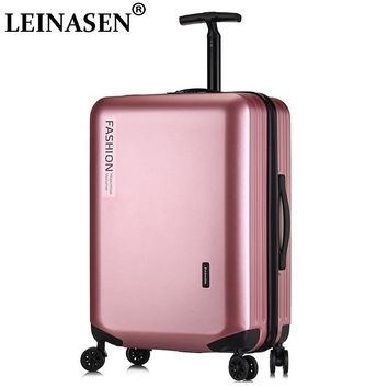 "LEINASEN Popular fashion rolling luggage 18"" 20"" 22"" 24"" 26"" inch brand carry on box men travel suitcase women  trolley lugga"
