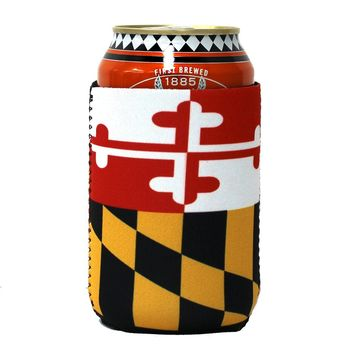 Maryland Flag / Can Cooler