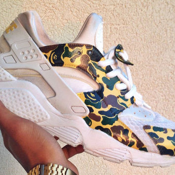 Camo Bape Print Huaraches From Knotsbykm Shoesss