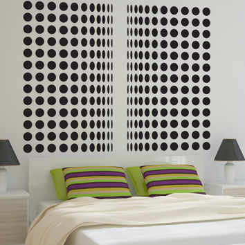 Vinyl Wall Decal Sticker Polka Dot Curtains #OS_DC776