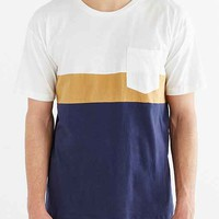 Vanishing Elephant Colorblocked Oversized Tee- White
