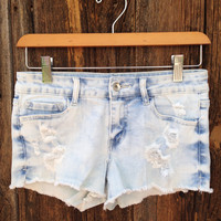 Bleached Vintage Denim Shorts - FINAL SALE