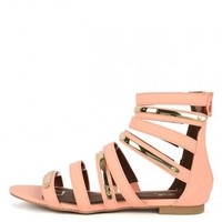 Qupid Identity-08x Strappy Gladiator Sandals | MakeMeChic.com