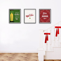 3 The Movie Elf Quotes Christmas Home Decor Prints