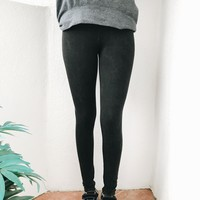 SANDRA LIGHT ACID WASH LEGGINGS- BLK