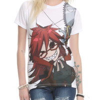 Black Butler Grell Sublimation Girls Top