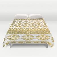 GOLDEN TRIBAL Duvet Cover by Nika