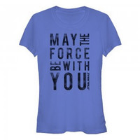 Star Wars May The Force Be With You Blue T Shirt (Women's)