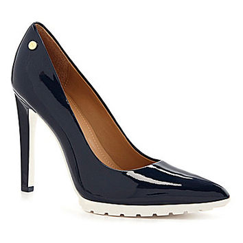 Calvin Klein Brigitte Pointed-Toe Pumps - Navy/White