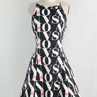 Mid-length Sleeveless A-line The Letter to Style You With Dress