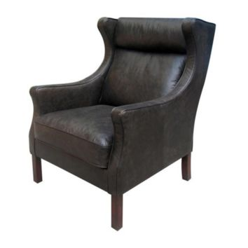 Adele Armchair | Mountain Black Leather