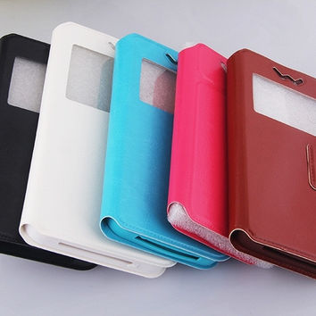 New Luxury Flip Stand Universal With Inter Silicone Case for Phone 4.5 to 5.5