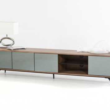 Modrest Kennedy Modern Walnut TV Stand