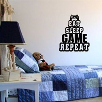 Eat Sleep Game Version 103 Gamer Video Game Decal Sticker Wall Boy Girl Teen Child Sport Fight