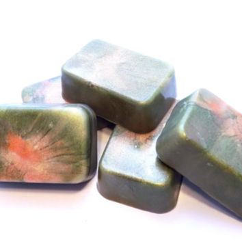 2 Camouflage Inspired Soaps; All Natural Glycerin; Hunter's Soap, Army Gifts;  Christmas Stocking Stuffer, Birthday Gift, Gift Exchange