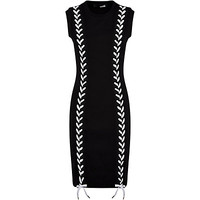 Love Moschino Lace-Up Knitted Dress