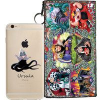 Disney's Villains (Ursula) Jelly Clear Case For Apple Iphone 7 + Pouch